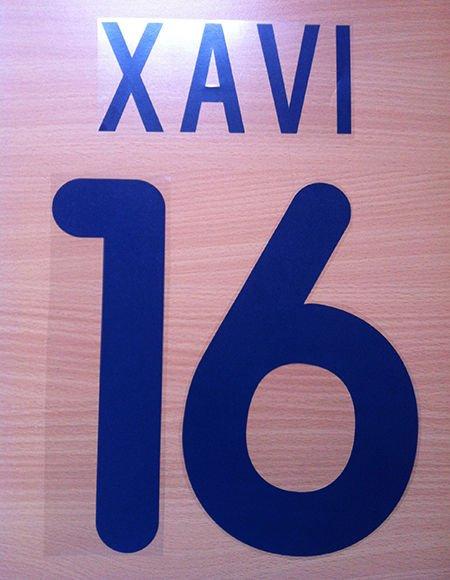 XAVI 16 BARCELONA AWAY 2001 2002 NAME NUMBER SET NAMESET KIT PRINT