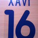 XAVI 16 BARCELONA AWAY 2001 2002 NAME NUMBER SET NAMESET KIT PRINT