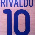 RIVALDO 10 BARCELONA AWAY 2001 2002 NAME NUMBER SET NAMESET KIT PRINT