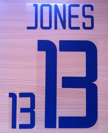 JERMAINE JONES 13 UNITED STATES HOME WC 2002 NAME NUMBER SET NAMESET KIT PRINT