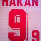HAKAN SUKUR 9 AWAY TURKEY EURO 1996 NAME NUMBER SET NAMESET KIT PRINT