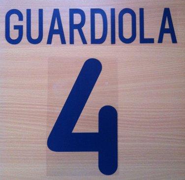 GUARDIOLA 4 BARCELONA AWAY 2001 2002 NAME NUMBER SET NAMESET KIT PRINT