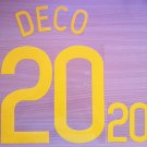 DECO 20 PORTUGAL HOME WC 2006 NAME NUMBER SET NAMESET KIT PRINT