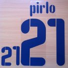 ANDREA PIRLO 21 ITALY AWAY WC 2010 NAME NUMBER SET NAMESET KIT PRINT