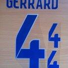 GERRARD 4  ENGLAND HOME 2014 2015 NAME NUMBER SET NAMESET KIT PRINT