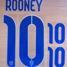 ROONEY 10 ENGLAND HOME 2014 2015 NAME NUMBER SET NAMESET KIT PRINT