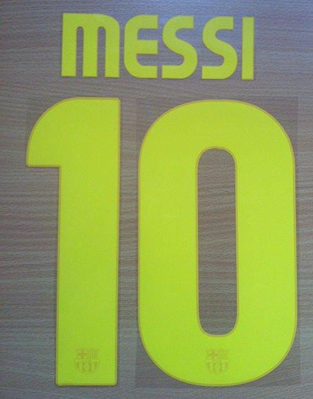 MESSI 10 BARCELONA HOME 2008 2010 NAME NUMBER SET NAMESET KIT PRINT RETRO