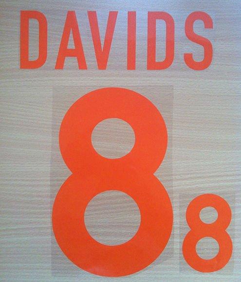 DAVIDS 8 NETHERLANDS AWAY EURO 2000 NAME NUMBER SET NAMESET KIT PRINT HOLLAND