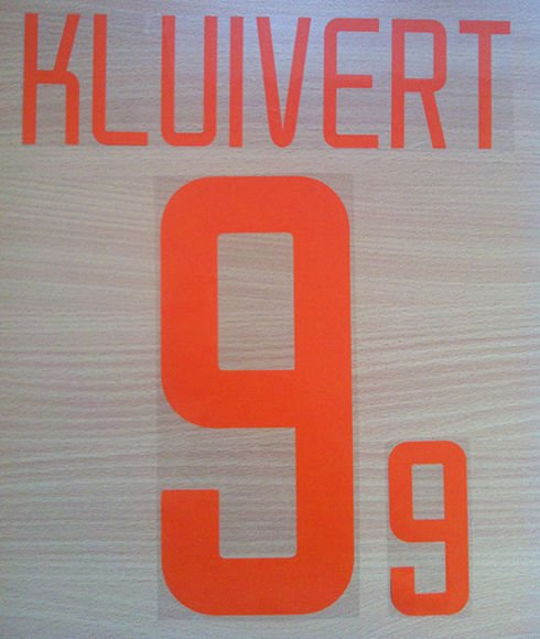 KLUIVERT 9 NETHERLANDS AWAY 2002 2004 NAME NUMBER SET NAMESET KIT PRINT HOLLAND