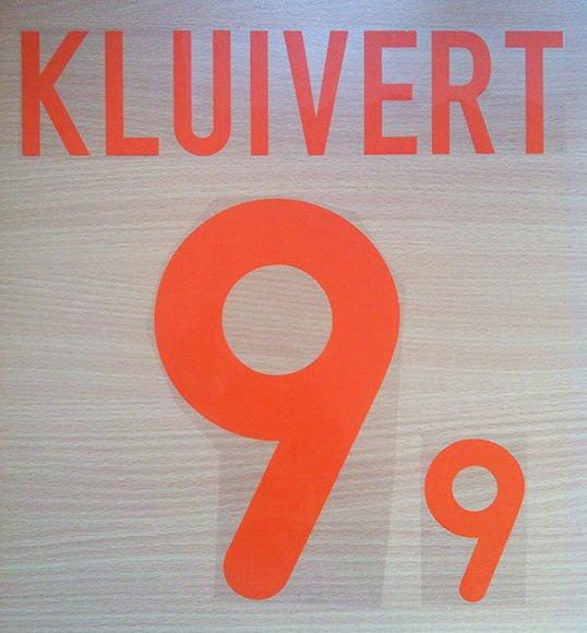 KLUIVERT 9 NETHERLANDS AWAY EURO 2000 NAME NUMBER SET NAMESET KIT PRINT HOLLAND