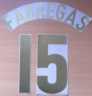 FABREGAS 15 ARSENAL HOME UCL 2005 2006 NAME NUMBER SET NAMESET KIT PRINT