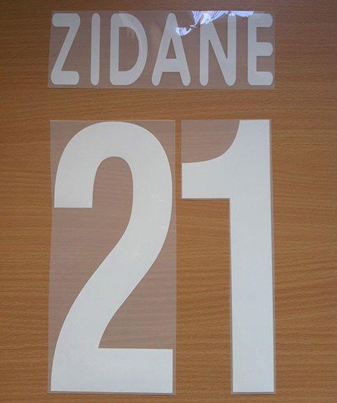 ZIDANE 21 JUVENTUS AWAY 2001 2002 NAME NUMBER SET NAMESET KIT PRINT CENTENARY