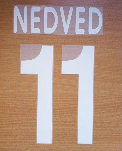 NEDVED 11 JUVENTUS AWAY 2001 2002 NAME NUMBER SET NAMESET KIT PRINT CENTENARY