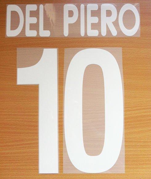 DEL PIERO 10 JUVENTUS AWAY 2001 2002 NAME NUMBER SET NAMESET KIT PRINT CENTENARY
