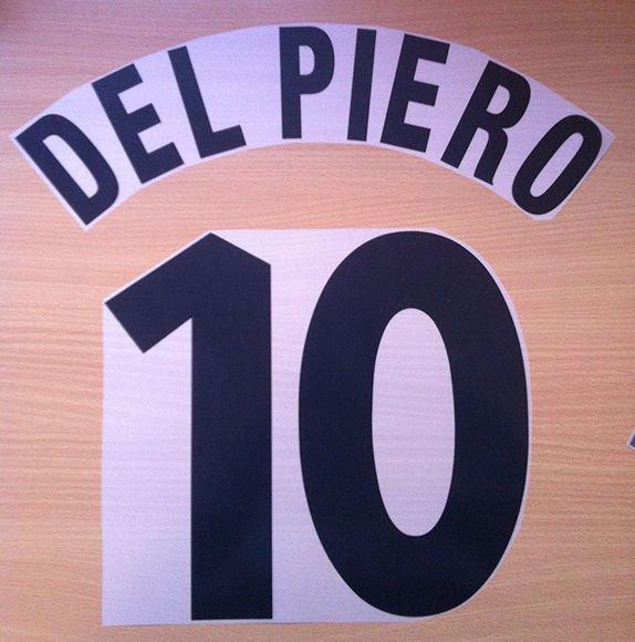 DEL PIERO 10 JUVENTUS HOME 1997 1998 NAME NUMBER SET NAMESET KIT PRINT CENTENARY