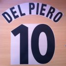 DEL PIERO 10 JUVENTUS HOME 1997 1998 NAME NUMBER SET NAMESET KIT PRINT CENTENARY