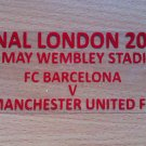 MATCH DETAILS BARCELONA VS MANCHESTER UTD FINAL LONDON 2011 CHAMPIONS LEAGUE