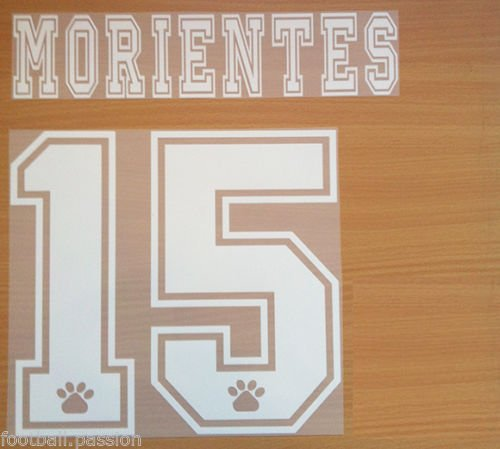 MORIENTES 15 REAL MADRID AWAY 1997 1998 NAME NUMBER SET NAMESET KIT PRINT RETRO
