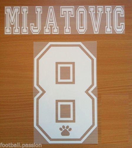 MIJATOVIC 8 REAL MADRID AWAY 1996 1998 NAME NUMBER SET NAMESET KIT PRINT RETRO
