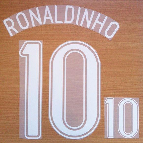 RONALDINHO 10 BRAZIL AWAY WORLD CUP GERMANY 2006 NAME NUMBER SET NAMESET PRINT