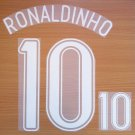 RONALDINHO 10 BRAZIL AWAY WORLD CUP GERMANY 2006 NAME NUMBER SET NAMESET PRINT
