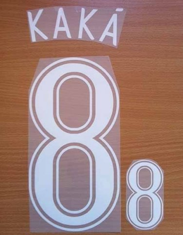 KAKA' 8 BRAZIL AWAY WORLD CUP GERMANY 2006 NAME NUMBER SET NAMESET KIT PRINT