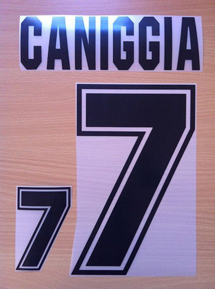 CANIGGIA 7 ARGENTINA HOME WORLD CUP 1994 NAME NUMBER SET NAMESET KIT PRINT