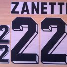 ZANETTI 22 ARGENTINA HOME WORLD CUP 1998 NAME NUMBER SET NAMESET KIT PRINT