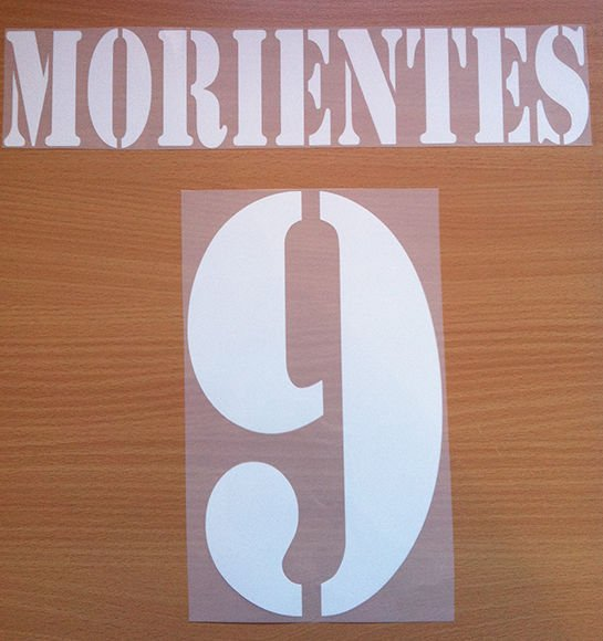 MORIENTES 9 REAL MADRID AWAY 2001 2002 NAME NUMBER SET NAMESET KIT PRINT