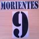 MORIENTES 9 REAL MADRID HOME 2001 2002 NAME NUMBER SET NAMESET KIT PRINT