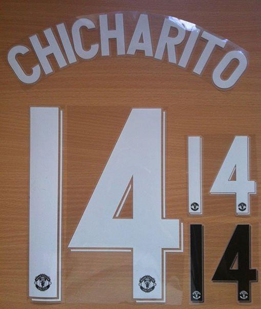 CHICHARITO 14 MANCHESTER UNITED CHAMPIONS L. 2012 2013 NAME NUMBER SET NAMESET
