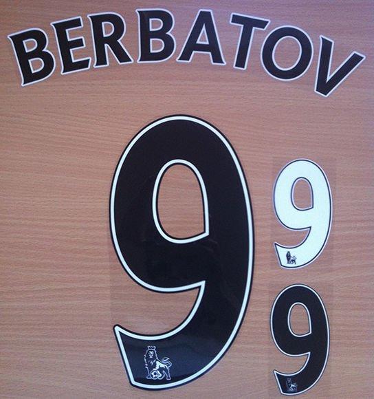 DIMITAR BERBATOV 9 FULHAM HOME 2013 2014 NAME NUMBER SET NAMESET PRINT