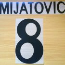 MIJATOVIC 8 REAL MADRID HOME 1998 1999 NAME NUMBER SET NAMESET KIT PRINT RETRO