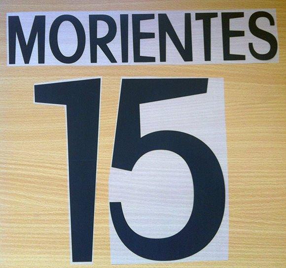 MORIENTES 15 REAL MADRID HOME 1998 1999 NAME NUMBER SET NAMESET KIT PRINT RETRO