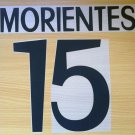 MORIENTES 15 REAL MADRID HOME 1998 1999 NAME NUMBER SET NAMESET KIT PRINT RETRO
