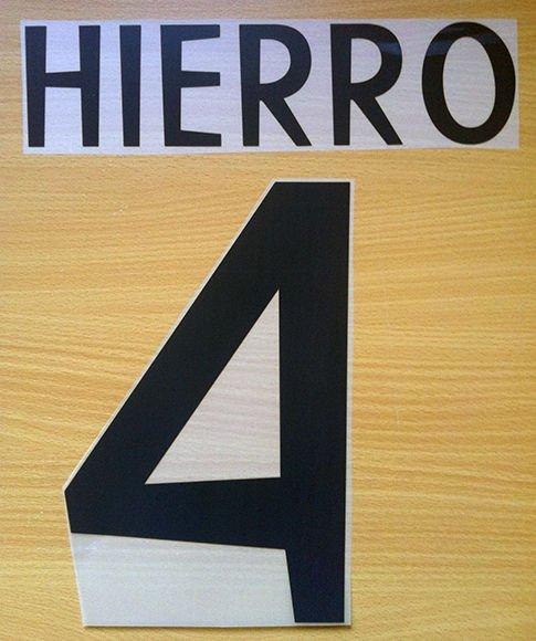 HIERRO 4 REAL MADRID HOME 1998 1999 NAME NUMBER SET NAMESET KIT PRINT RETRO