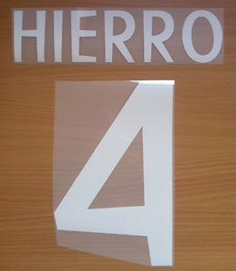 HIERRO 4 REAL MADRID AWAY 1998 1999 NAME NUMBER SET NAMESET KIT PRINT RETRO