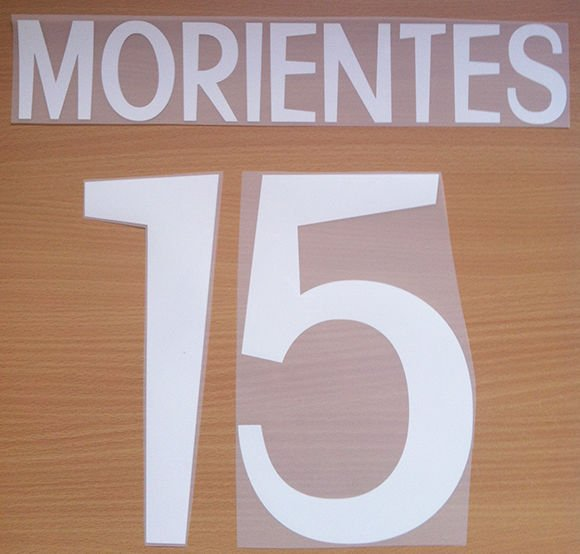MORIENTES 15 REAL MADRID AWAY 1998 1999 NAME NUMBER SET NAMESET KIT PRINT RETRO
