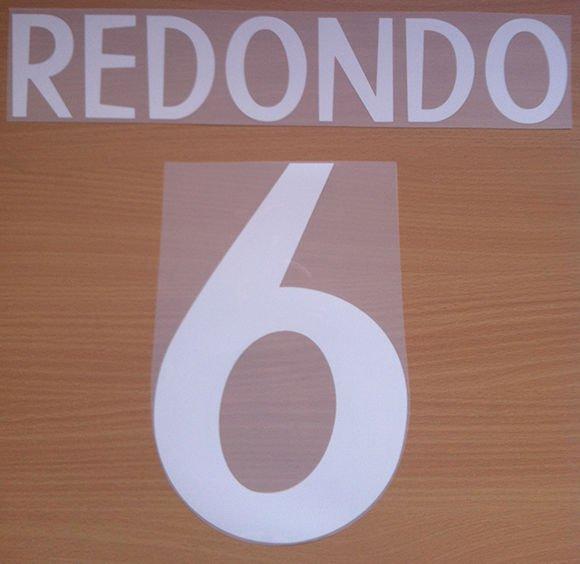 REDONDO 6 REAL MADRID AWAY 1998 1999 NAME NUMBER SET NAMESET KIT PRINT RETRO