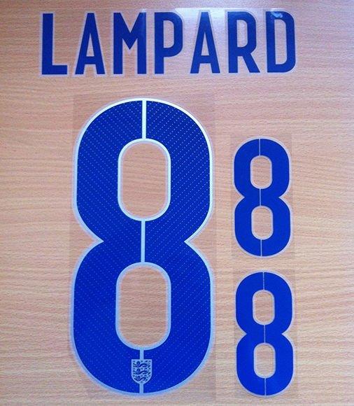 LAMPARD 8 ENGLAND HOME 2014 2015 NAME NUMBER SET NAMESET KIT PRINT