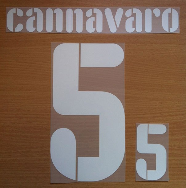 CANNAVARO 5 ITALY HOME CONFEDERATIONS CUP 2009 NAME NUMBER SET NAMESET KIT PRINT