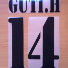GUTI 14 REAL MADRID HOME 2001 2002 NAME NUMBER SET NAMESET KIT PRINT