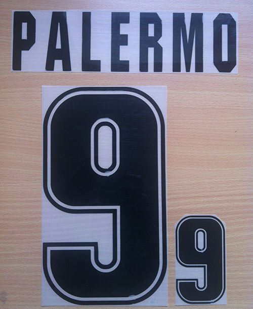 PALERMO 9 ARGENTINA 1999 2001 NAME NUMBER SET NAMESET KIT PRINT NUMBERING