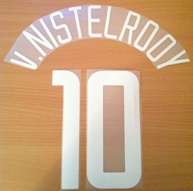 VAN NISTELROOY 10 MANCHESTER UTD UCL 2002 2004 NAME NUMBER SET NAMESET KIT PRINT
