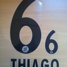 THIAGO 6 BAYERN MUNICH AWAY 2013 2014 NAME NUMBER SET NAMESET KIT PRINT FLOCK