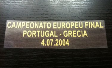 MATCH DETAILS PORTUGAL VS GREECE GRECIA EURO CUP FINAL 04 07 2004