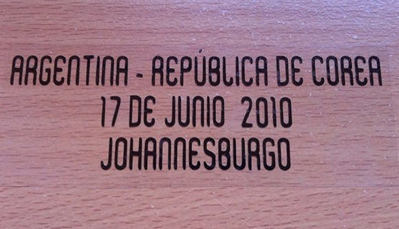 MATCH DETAILS ARGENTINA VS KOREA REPUBLIC 17 JUNE WORLD CUP 2010 PRINT