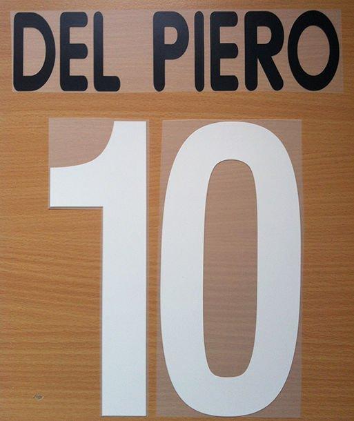 DEL PIERO 10 JUVENTUS HOME 2001 2002 NAME NUMBER SET NAMESET KIT PRINT CENTENARY