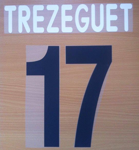 TREZEGUET 17 JUVENTUS HOME 2001 2002 NAME NUMBER SET NAMESET KIT PRINT CENTENARY
