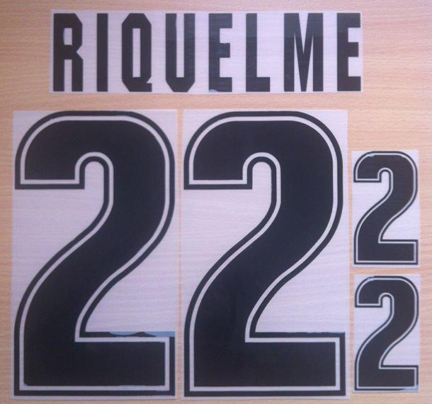 RIQUELME 22 ARGENTINA 1999 2001 NAME NUMBER SET NAMESET KIT PRINT NUMBERING
